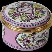 Halcyon Days St Valentine's Day 1996 With All My Love Enamel Box