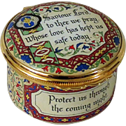 Halcyon Days Enamel Box Prayer Saviour Lord to Thee We Pray