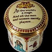 Halcyon Days Shakespeare As You Like It Enamel Box
