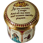 Halcyon Days Shakespeare As You Like It Enamel Box