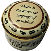 Halcyon Days Music Is the Universal Language Small Enamel Box