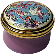 Halcyon Days Love Birds Mini Enamel Box