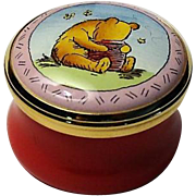 Halcyon Days Signed Winnie the Pooh and the Honey Pot Mini Enamel Box