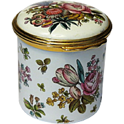 Halcyon Days Victoria & Albert Museum Tall Floral Enamel Box