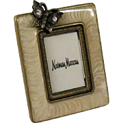 Jay Strongwater Miniature Enamel Photo Frame with Jeweled Butterfly for Neiman Marcus