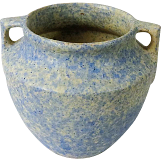 Burley Winter Jardiniere Blue over White Vellum Glaze Art Pottery #43