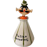 Holt Howard Italian Dressing Jar with Flat Head Pixie Stopper