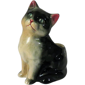 Goebel Black Cat Planter Figurine from Germany c 1950-55
