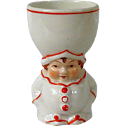 Adorable Vintage Clown Egg Cup with Red Letter Japan Mark