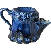 Porthmadog Pottery Tea Strainer Teapot in Cobalt Blue from Wales