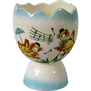 Singing Chickens Double Egg Cup from Japan