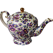 Violet Chintz Arthur Wood & Son English Teapot