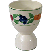 Vintage Double Egg Cup with Fruit Border