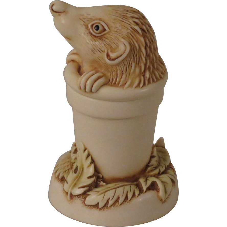 Harmony Kingdom Pot Sticker Hedgehog Mini Treasure Jest Box Figurine
