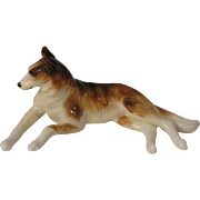 Vintage Smooth Coated Collie Dog Bone China Figurine