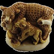 Harmony Kingdom Sleepy Hollow Small Treasure Jest Box Figurine with Leopards