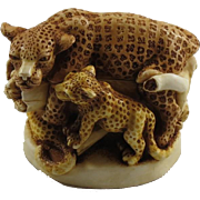 Harmony Kingdom Sleepy Hollow Small Treasure Jest Box Figurine with Leopards