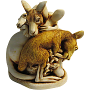 Harmony Kingdom Baby Boomer Small Treasure Jest Box Figurine Second Edition with Kangaroos