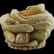 Harmony Kingdom Play School Small Treasure Jest Box Figurine with Fish