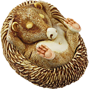 Harmony Kingdom Sunnyside Up Large Treasure Jest Box Figurine with a Baby Hedgehog