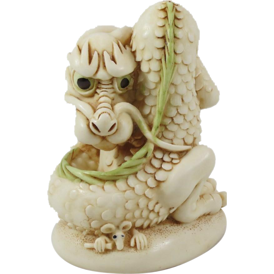 Signed Harmony Kingdom Georgie NetsUKe Treasure Jest Dragon Figurine