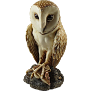 Harmony Kingdom Softly Softly Large Treasure Jest Box Figurine of Barn Owl