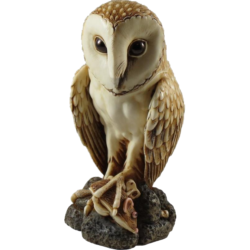 Harmony Kingdom Softly Softly Large Treasure Jest Box Figurine of Barn Owl