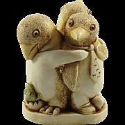 Harmony Kingdom Unexpected Arrival Small Treasure Jest Box Figurine with Penguins