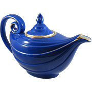 Vintage Hall Aladdin Teapot in Cobalt Blue and Gold
