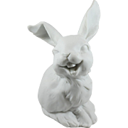 Kaiser Laughing Rabbit White Bisque Porcelain Figurine Made in West Germany