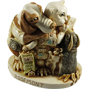 Signed Harmony Kingdom Signing Line Treasure Jest Box Figurine for International Collectibles Exhibition 2000