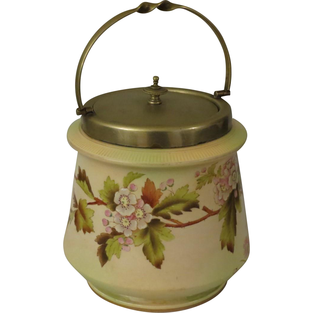 Wiltshaw & Robinson Carlton Ware English Biscuit Jar c 1894-1926