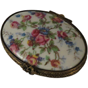 Porcelaine Artistique F. M. (FONTANILLE & MARRAUD) Limoges France Porcelain Floral Roses Box