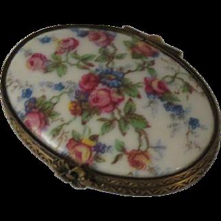 Porcelaine Artistique F. M. (FONTANILLE & MARRAUD) Limoges France Porcelain Floral Roses Box
