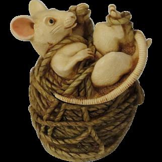 Harmony Kingdom Limited Edition Alexandre Treasure Jest Box Figurine with Mouse