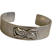 Georg Jensen USA Sterling Silver Cuff Bracelet Circa 1940s
