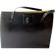 Exceptional Asprey London Black Leather Vintage Handbag Purse