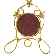 Victorian Brass  Pocket Watch Holder with Hook from England