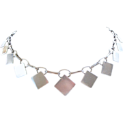 PRICE REDUCED Deco Sterling Silver Collar Necklace by Anders Ring, Denmark RARE
