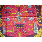 Authentic Never Used  Hermes Scarf:  Thalassa Vivid Colors, Original Gift Box
