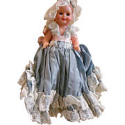 Vintage Sewing Doll Original Dress and Hat, Underskirt for Pins and Needles