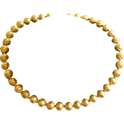 Elegant Vintage Gold Gilt Etruscan Bead Choker Necklace