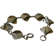 Spectacular Modernistic Bracelet Sterling Silver Links 3 Dimensional