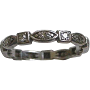 Deco Era Platinum with Diamonds Eternity Band Ring