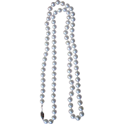 Classic Cultured Pearl Necklace 28 Inches Long