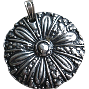 Handcrafted PMC Medallion Pendant Artisan Jewelry