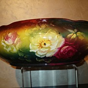 HUGE Royal Bonn Jardiniere/Vase with Marvelous Colors & Hand Painted Roses