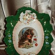 Prussia Styled Bavaria Portrait Tray Carlsbad Austria
