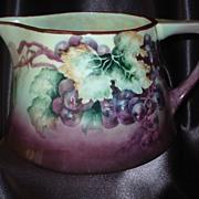 Bavaria Grape Cider Pitcher with Opalescent Interior