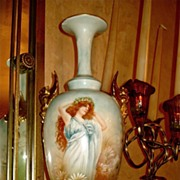 Gorgeous Large CAC Belleek Griffin Handled Portrait Vase